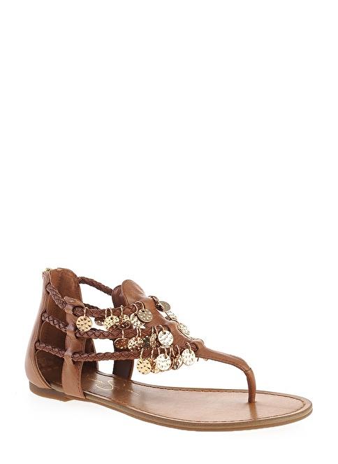 Jessica Simpson %100 Deri Sandalet Bej